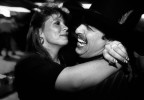 Colorado Springs bounty hunter Joe Divido dances with his girlfriend at a country-western  bar.