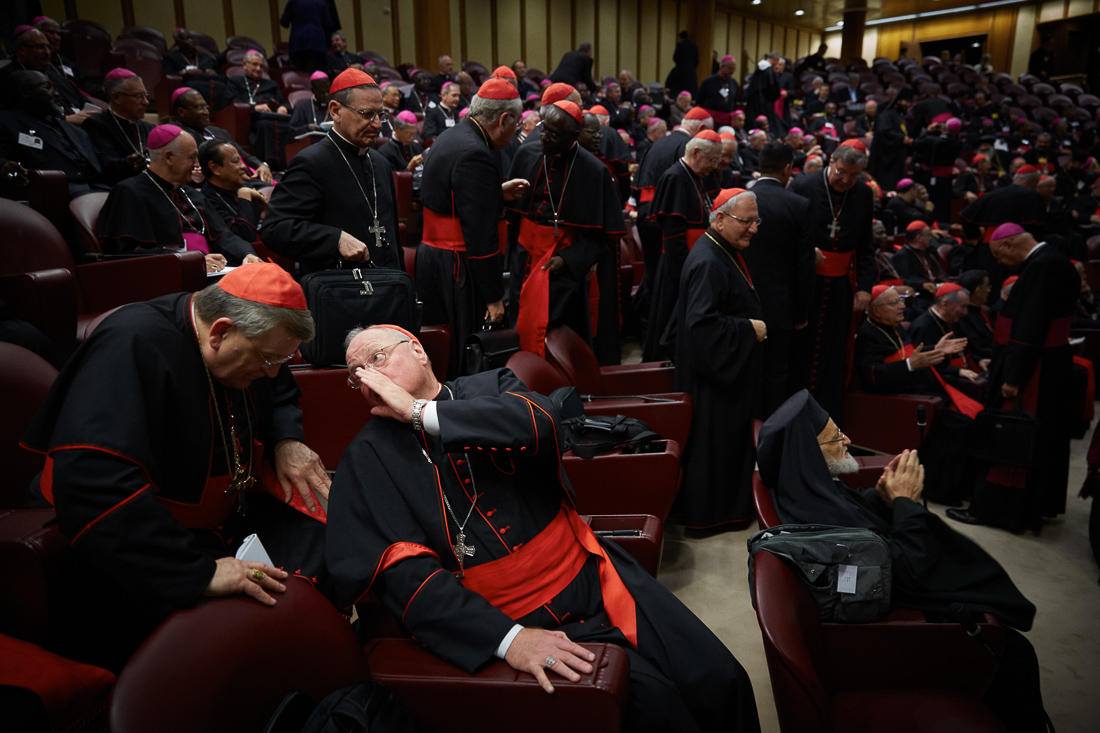 Pope Francis attends the Extraordinary Synod on the family in Vatican City.