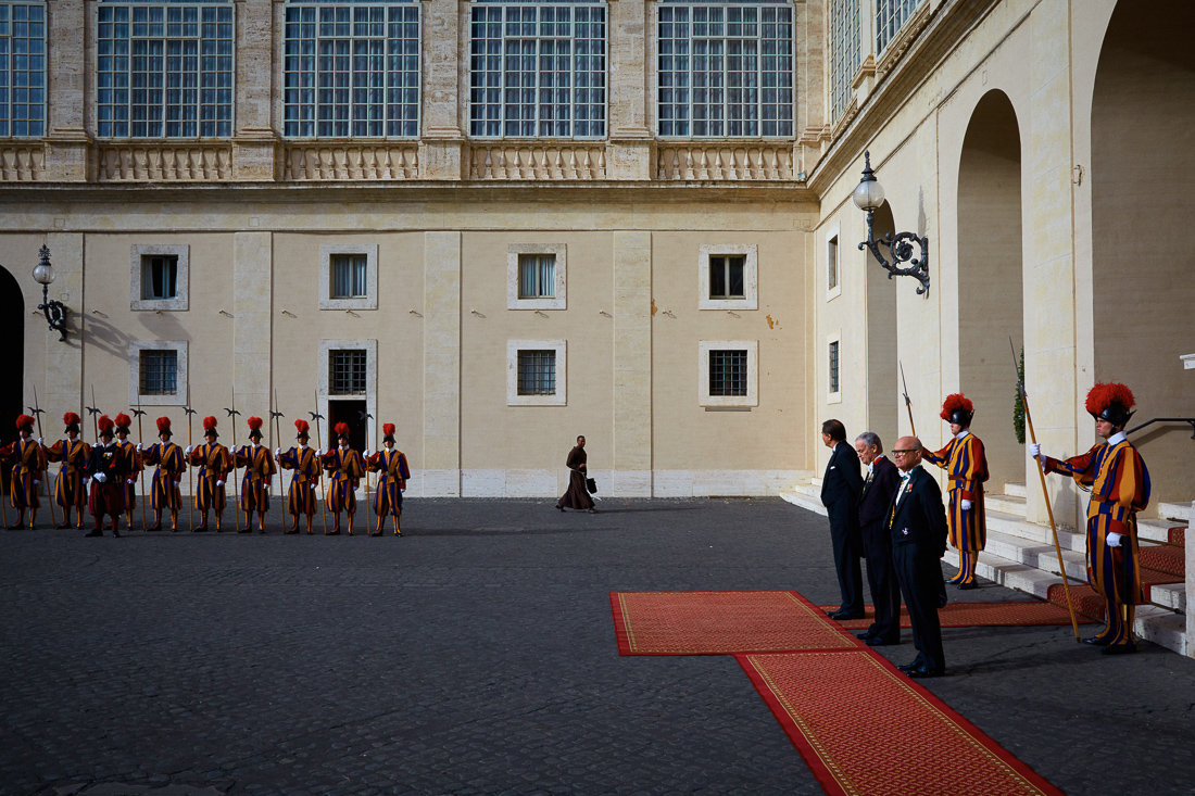 Pope Francis receives the prime minister of Grenada in Vatican City.
