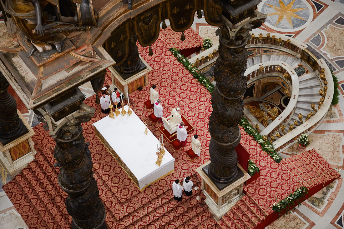 Pope Francis attends an eucharistic celebration presided over by the Holy Father Francis in the Feast of Our Lady of Guadalupe.
