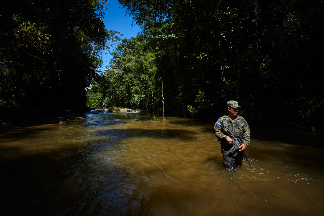 Honduran jungle troops lead the way on an exploration of a river that likely served as the only entrance to the valley protecting an ancient civilisation that has long since disappeared.