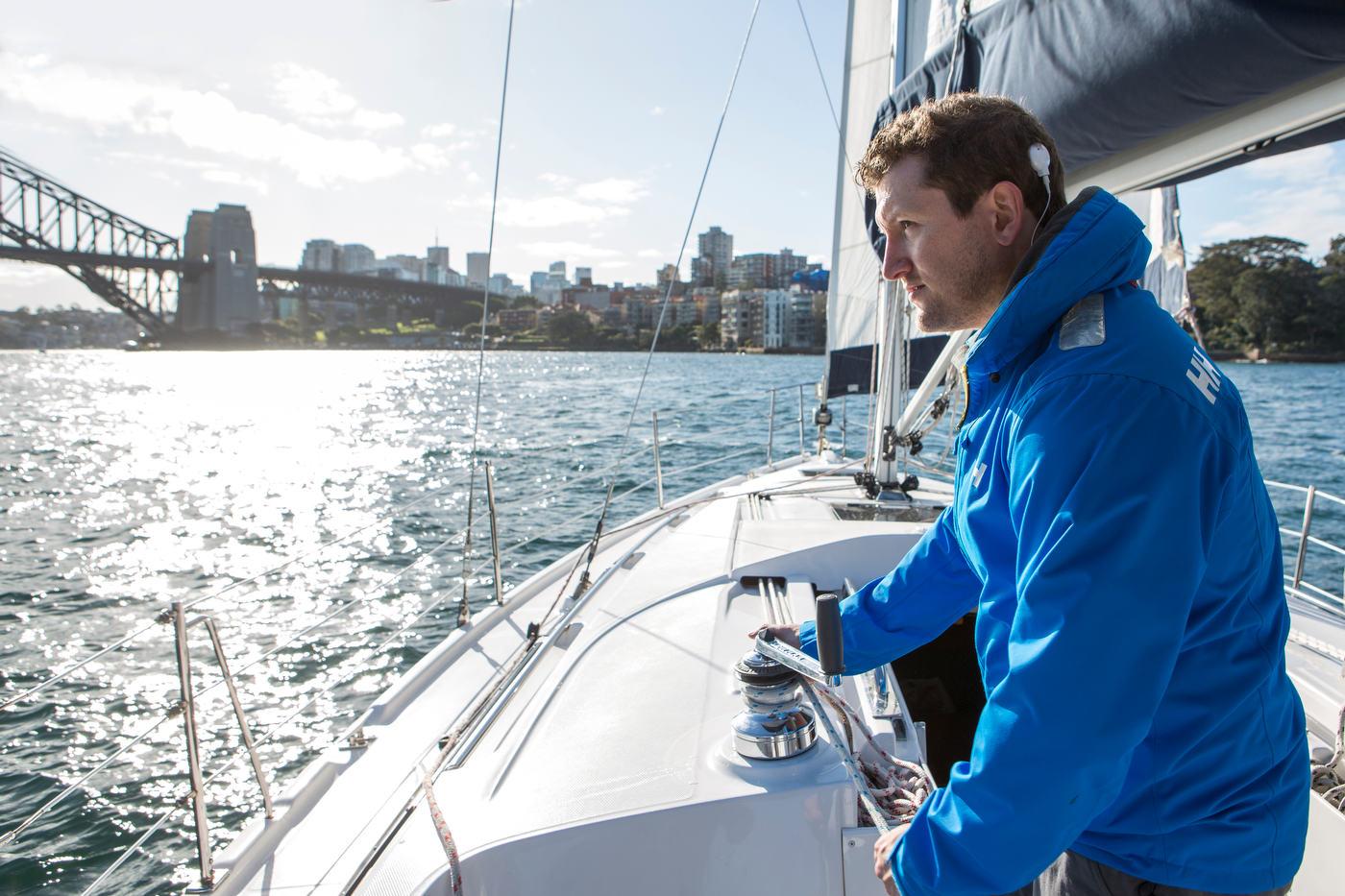 Llyod, competitive sailor, Sydney, Australia.