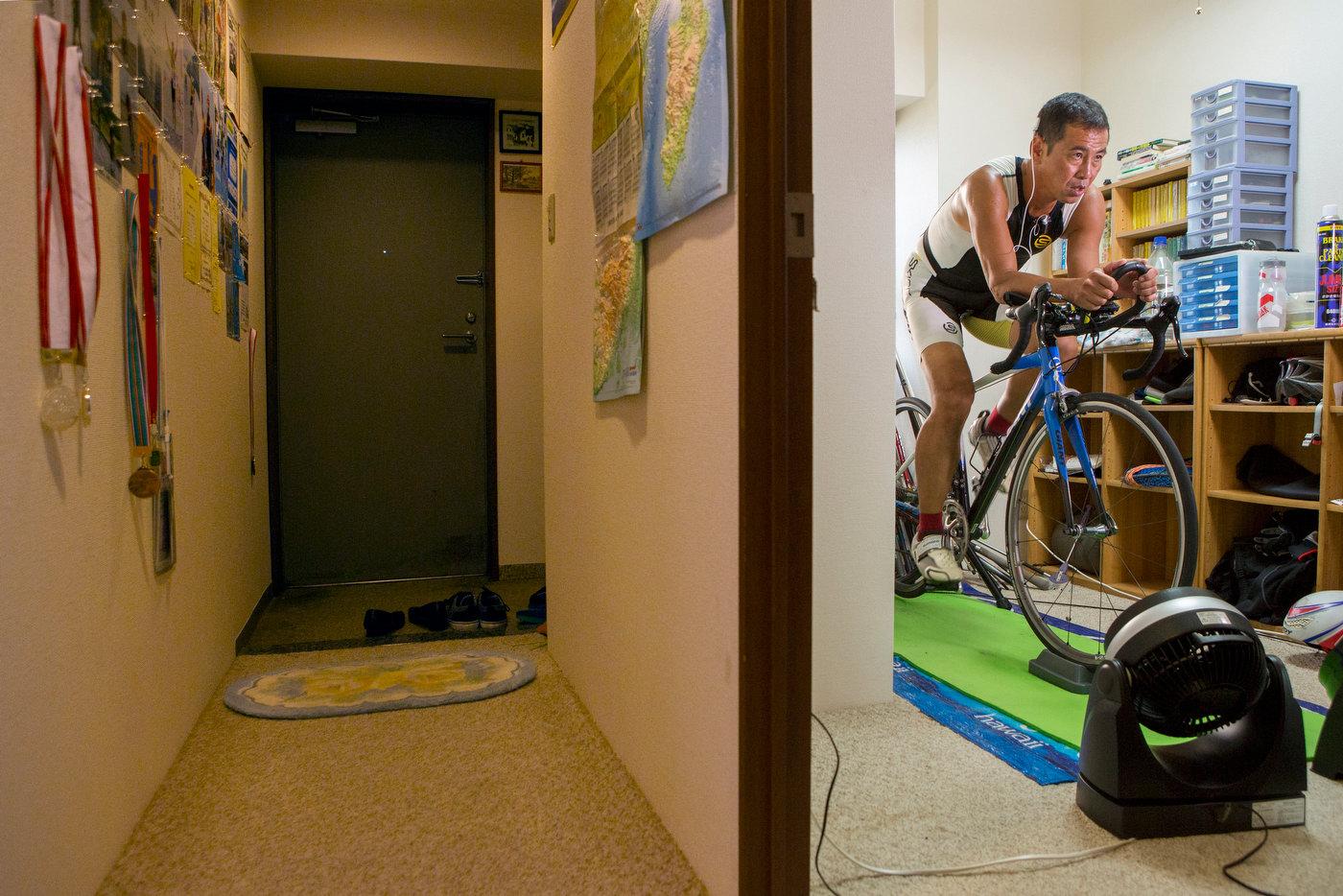 Kato-San, training for Ironman, Tokyo.