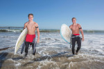Freeman brothers, surfers, California, for Advanced Bionics.