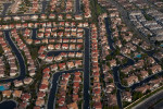 Urban sprawl, Southern California.