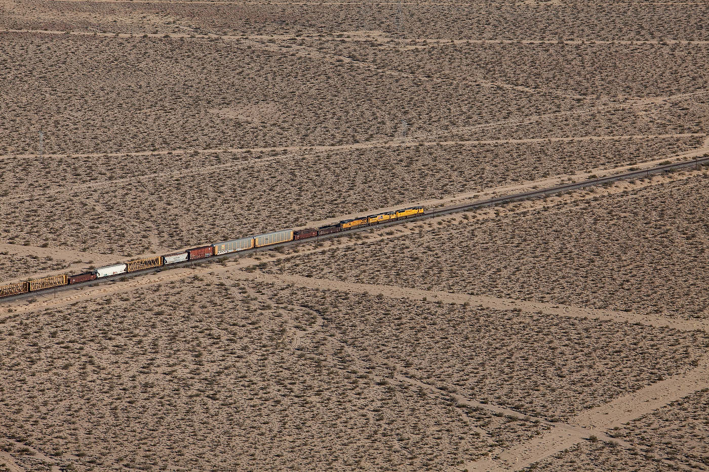 Freight train, Mojave Desert, Nevada.