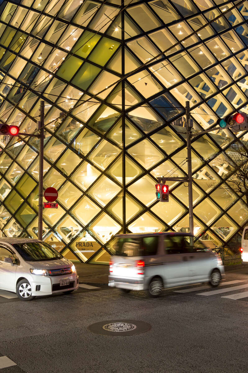 Prada Building by Herzog & de Meuron, Tokyo.