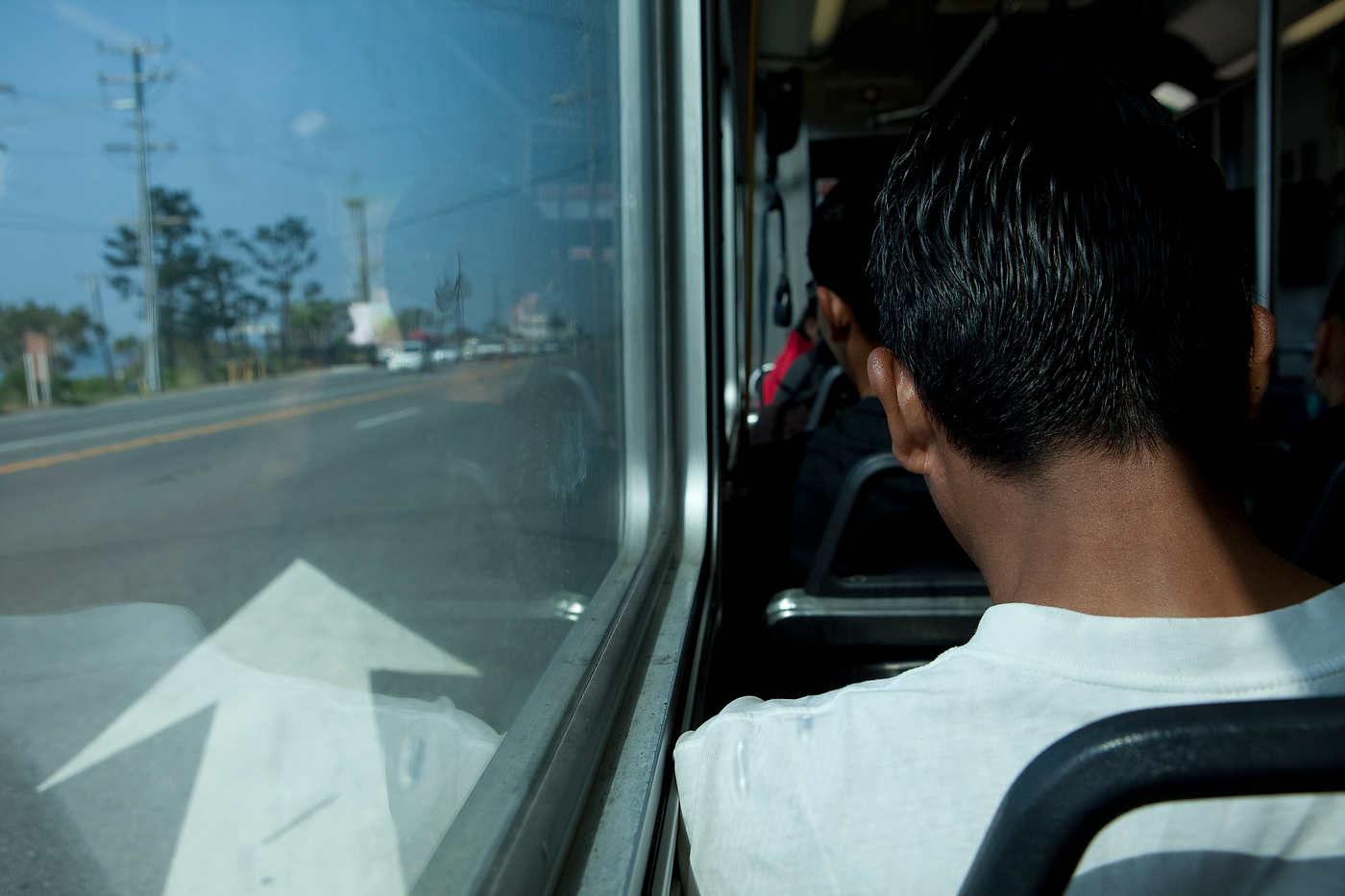 A Latino worker heads to Malibu, Line 534.