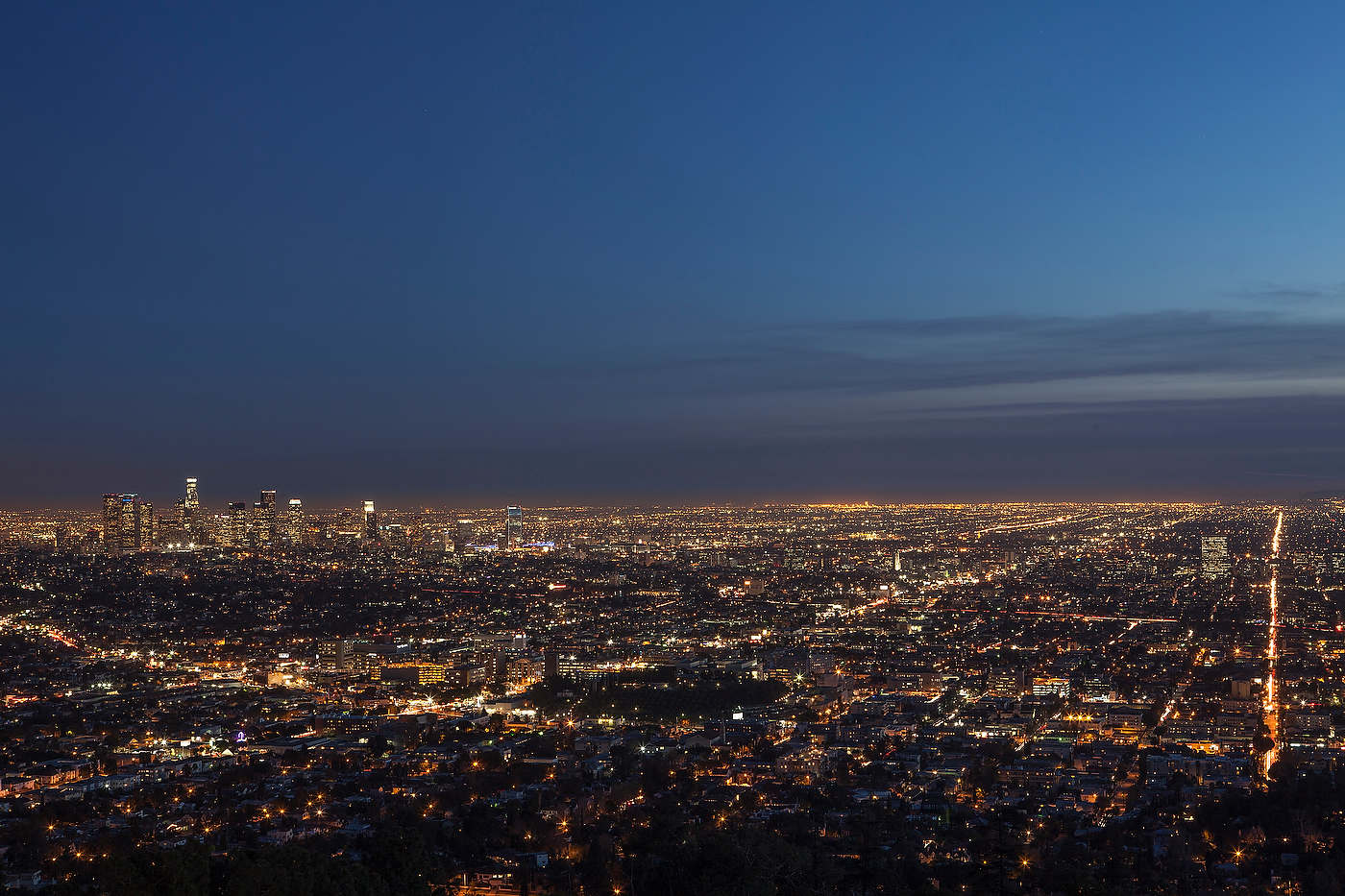 Los Angeles at dusk.