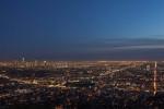 Los Angeles at dusk.