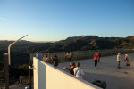 Griffith Park Observatory and Hollywood sign.