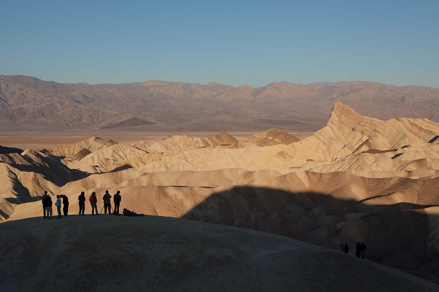 Sunrise at Zabriskie Point, Death Valley.