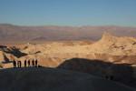 Sunrise at Zabriskie Point, Death Valley.