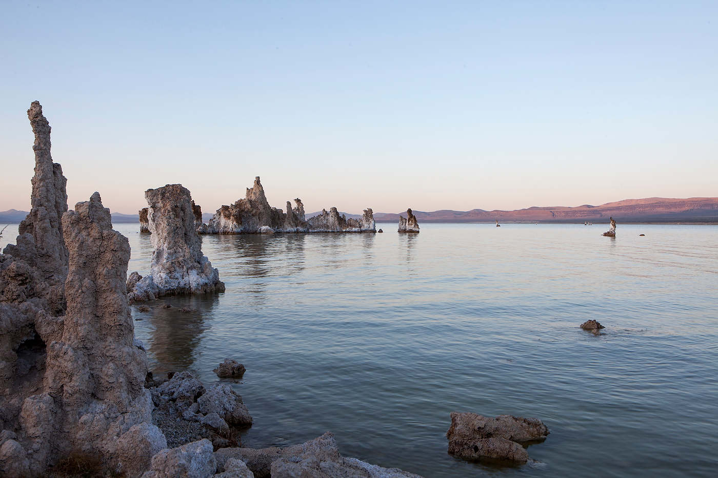 Tufa Towers at dusk, Mono Lake Tufa State Reserve.