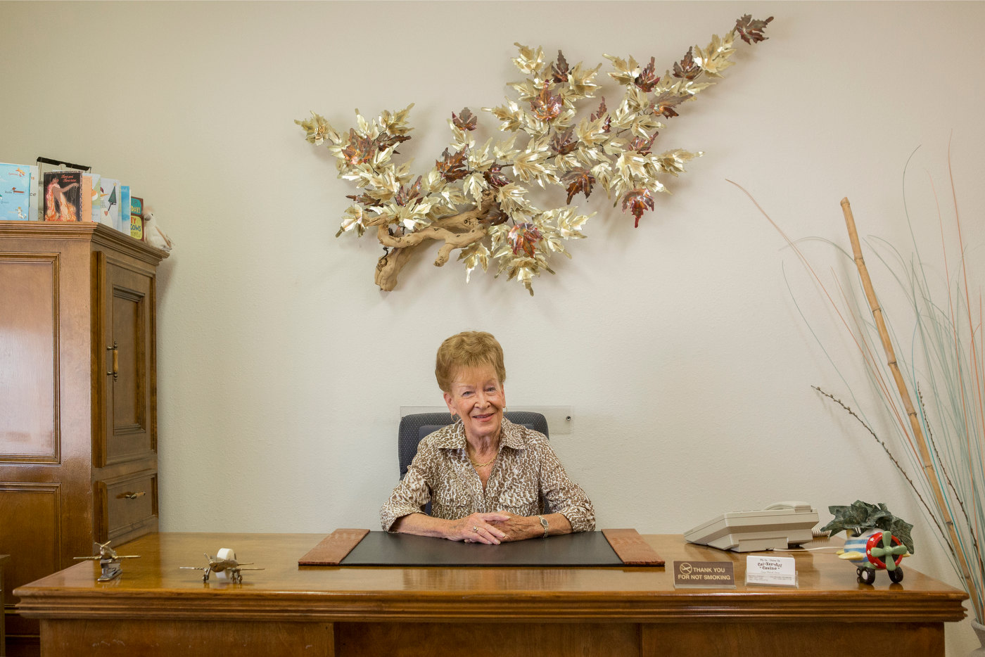Nancy Kidwell, 80, founder and owner of CalNevAri, Nevada, pop. 350, for Le Parisien Magazine.