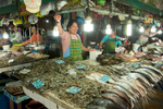 Fish mongers at the Maharlika Market in Baguio, Philippines, for The Travel Channel.