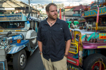 Josh Gates, host of Expedition Unknown, in Baguio, Philippines, for The Travel Channel.