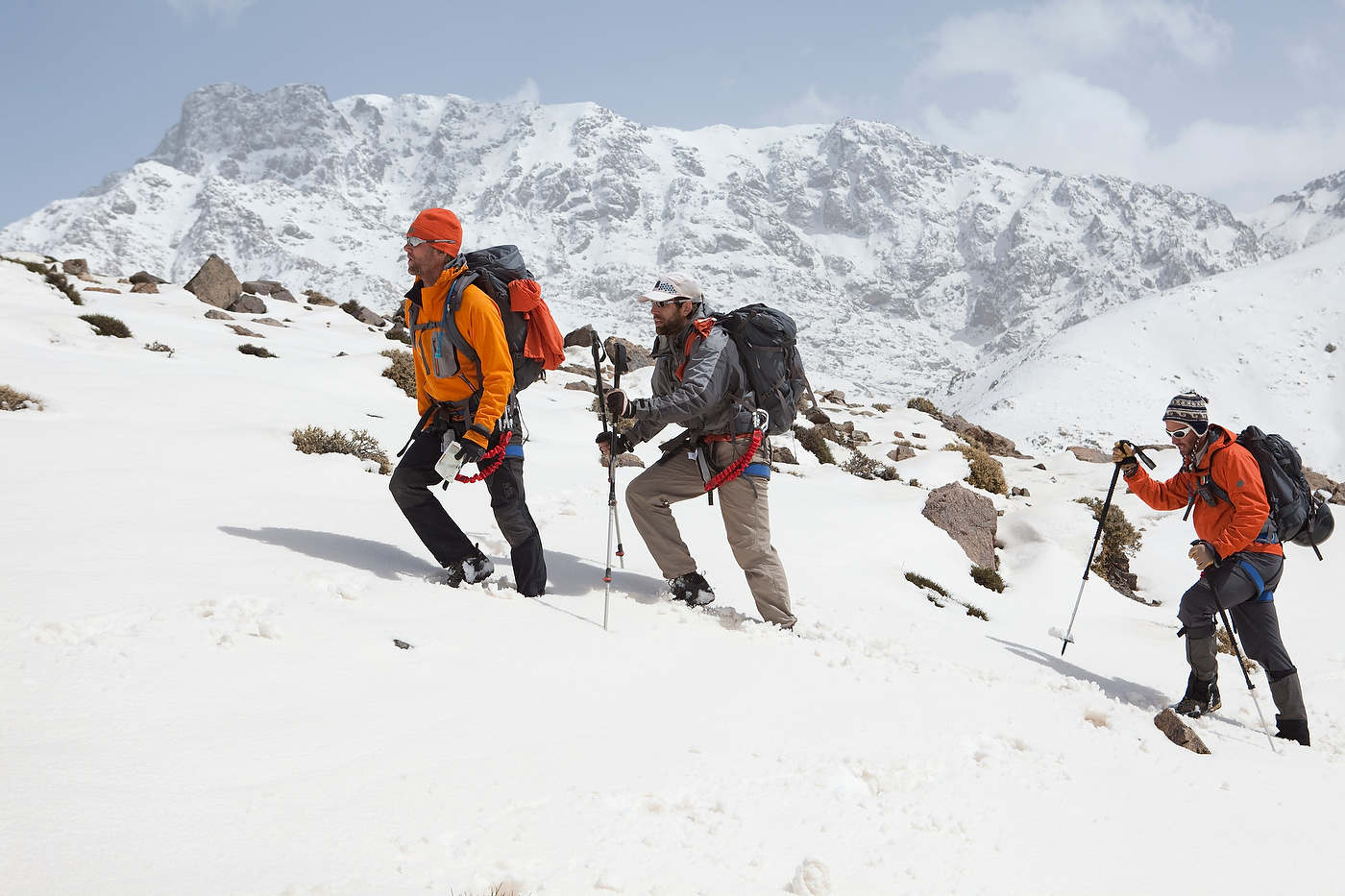 Team No Limits climbs the High Atlas Mountains near Oukaimeden, with Eric Weihenmayer, second, who is blind,