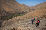 Team Kansas navigates steep switchbacks leading to a Berber village as they decend from the High Atlas Mountains.