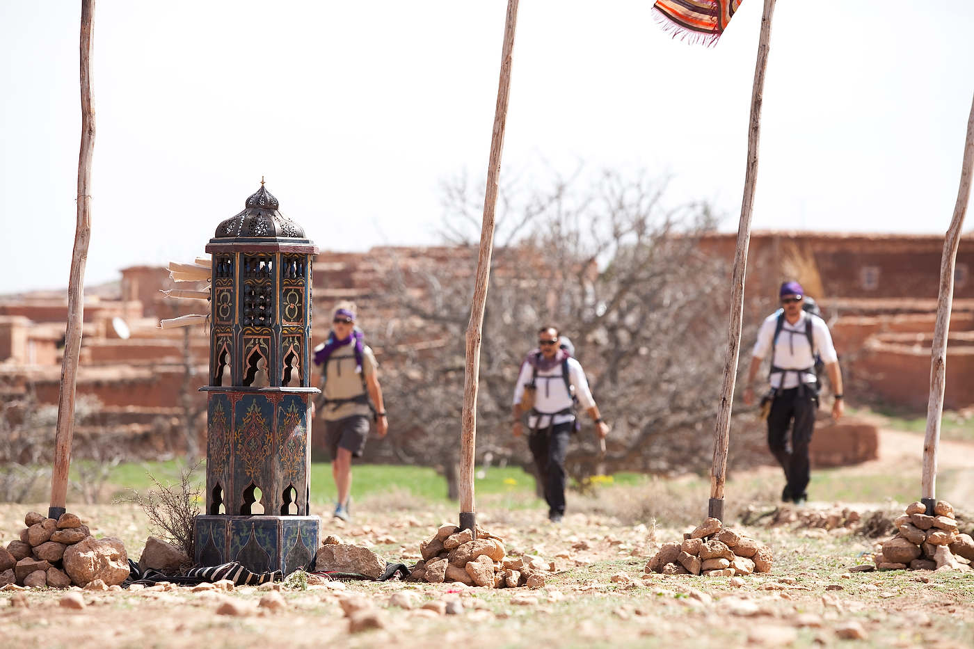In the lead, Team Gypsies approaches a check point's kiosk.