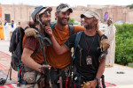 Team No Limits finishes second in Marrakesh, with Eric Weihenmayer, left, who is blind,.