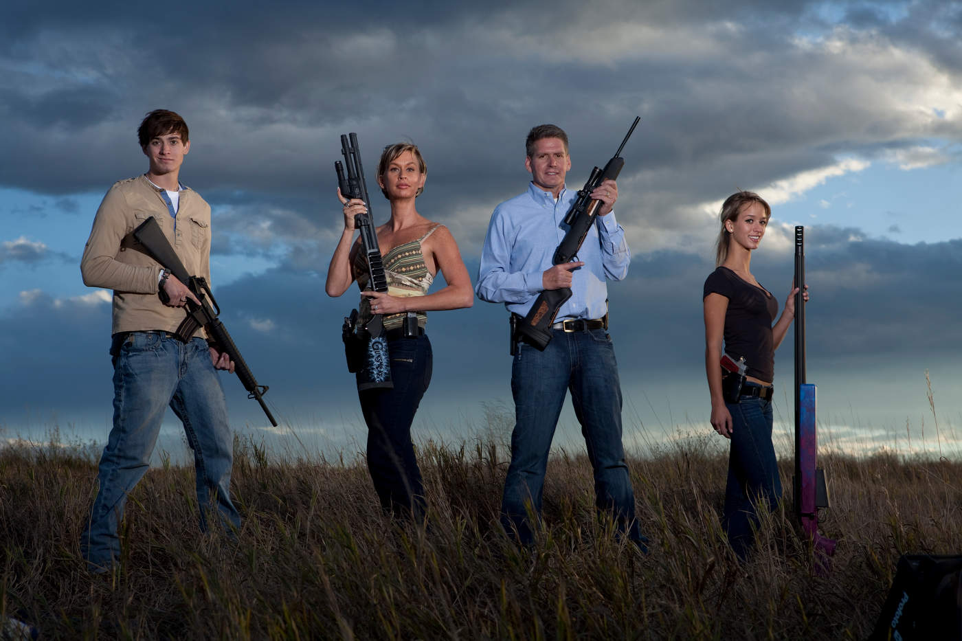 The Wyatt family, American Gun, Colorado, for Discovery Channel.