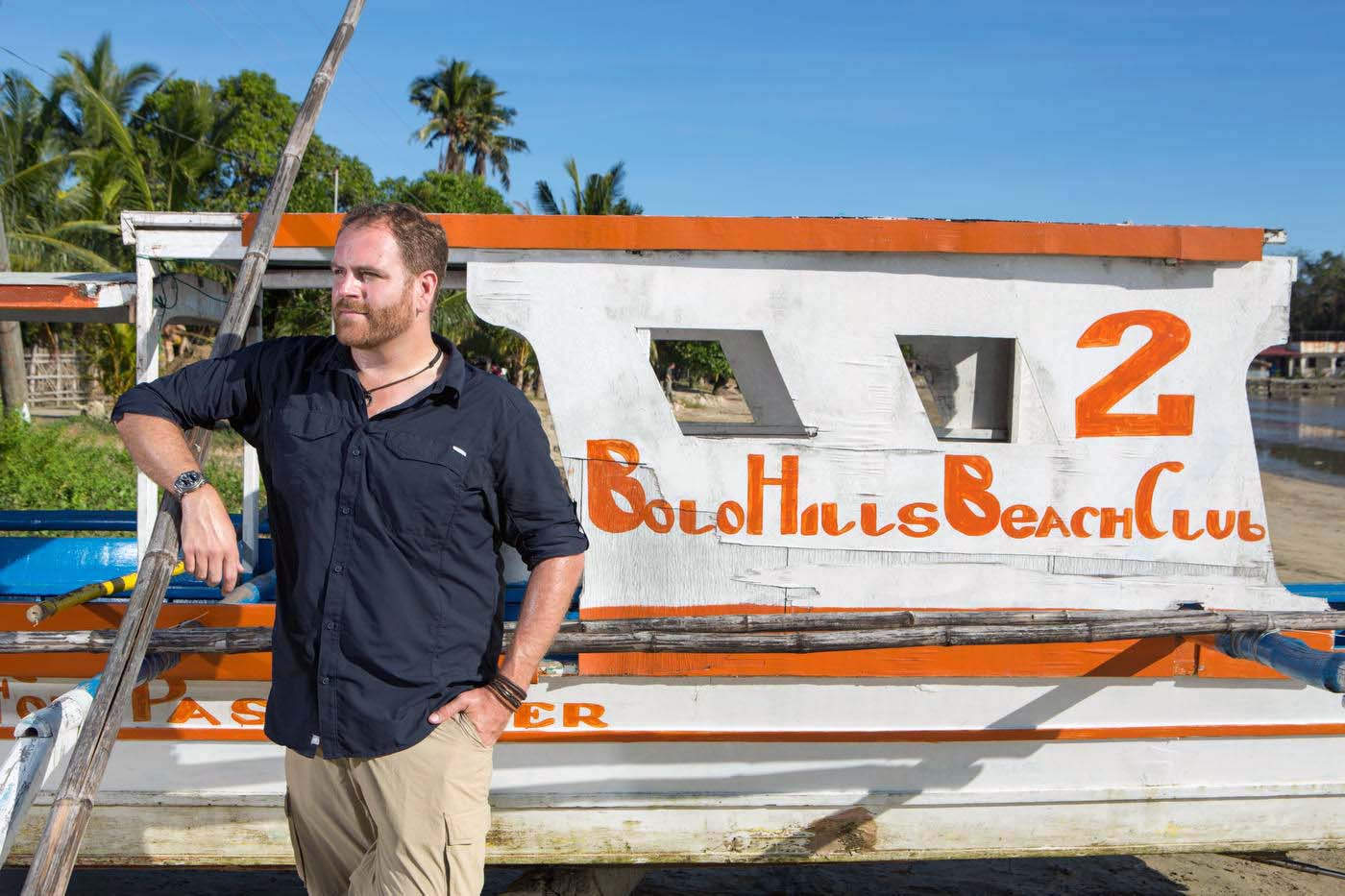 Josh Gates, Expedition Unknown, coast of Sual, Philippines, The Travel Channel.