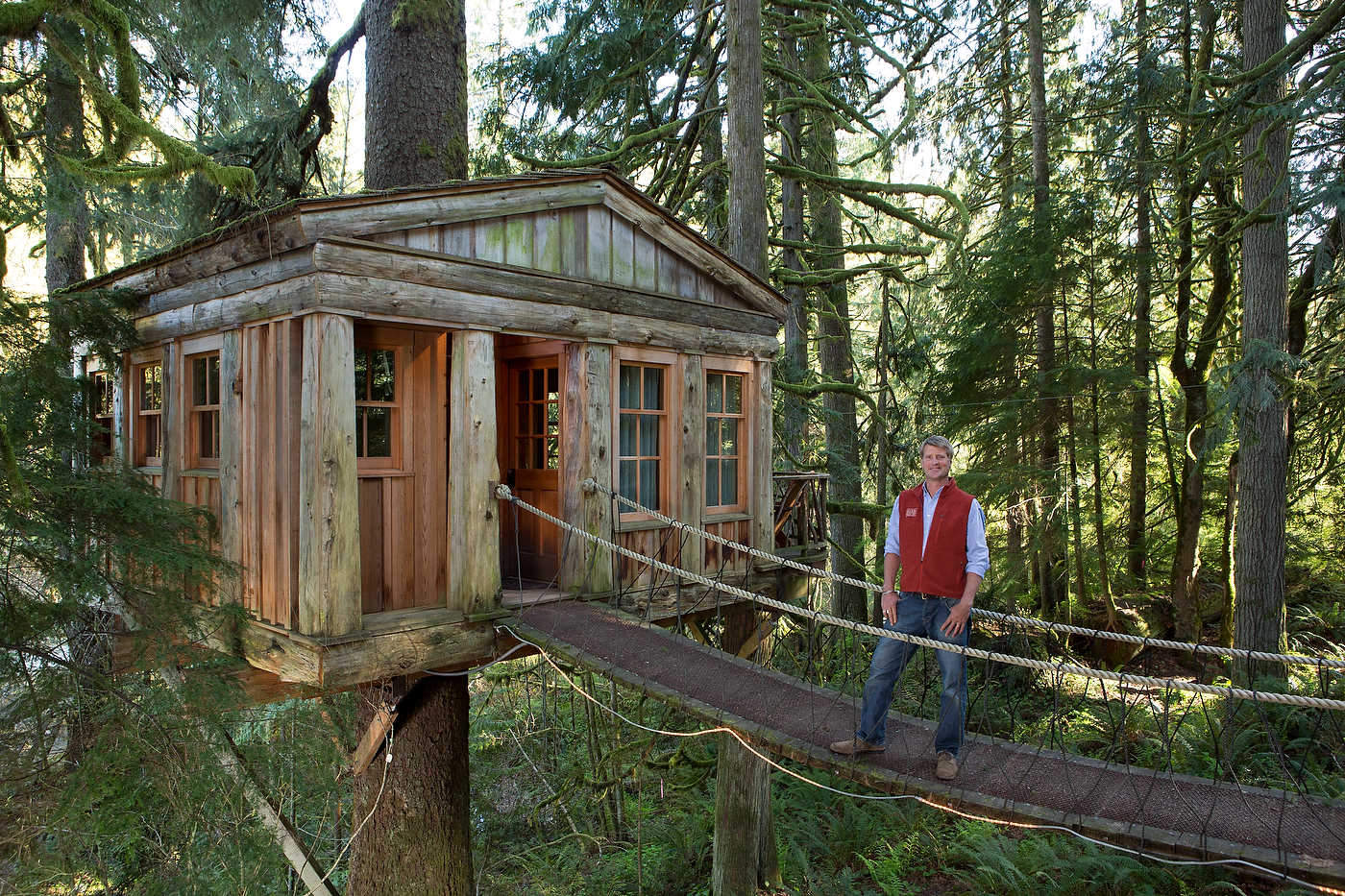Treehouse Masters, Washington, for Discovery Channel.