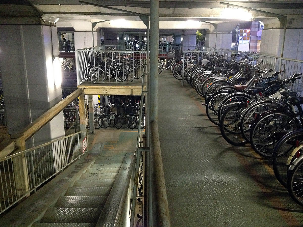 Bike parking, Fukuyama.
