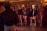 Prostitutes line up for a new client at the Love Ranch.