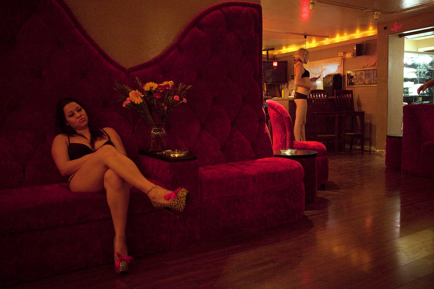 Prostitutes wait for clients at the Love Ranch.