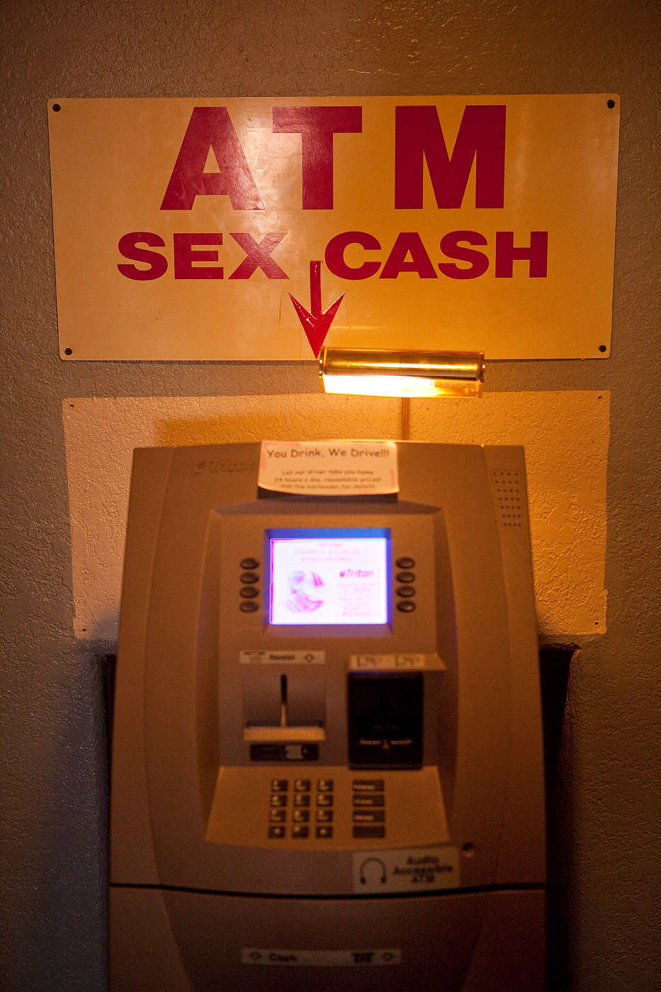 The Love Ranch cash machine.