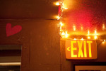Exit sign.