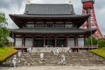 Monks at the Zojoji Temple, Minato.