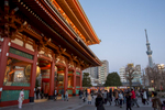Dusk, Sensō-ji temple, Asakusa.