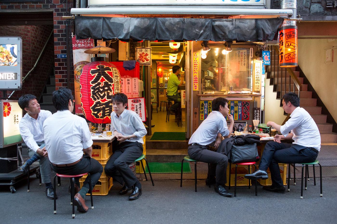 Salarymen after work, Shimbashi.