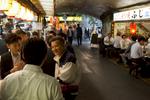 Salarymen after work near Yurakucho Station.