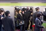 Morning commuters, Shinjuku Station.