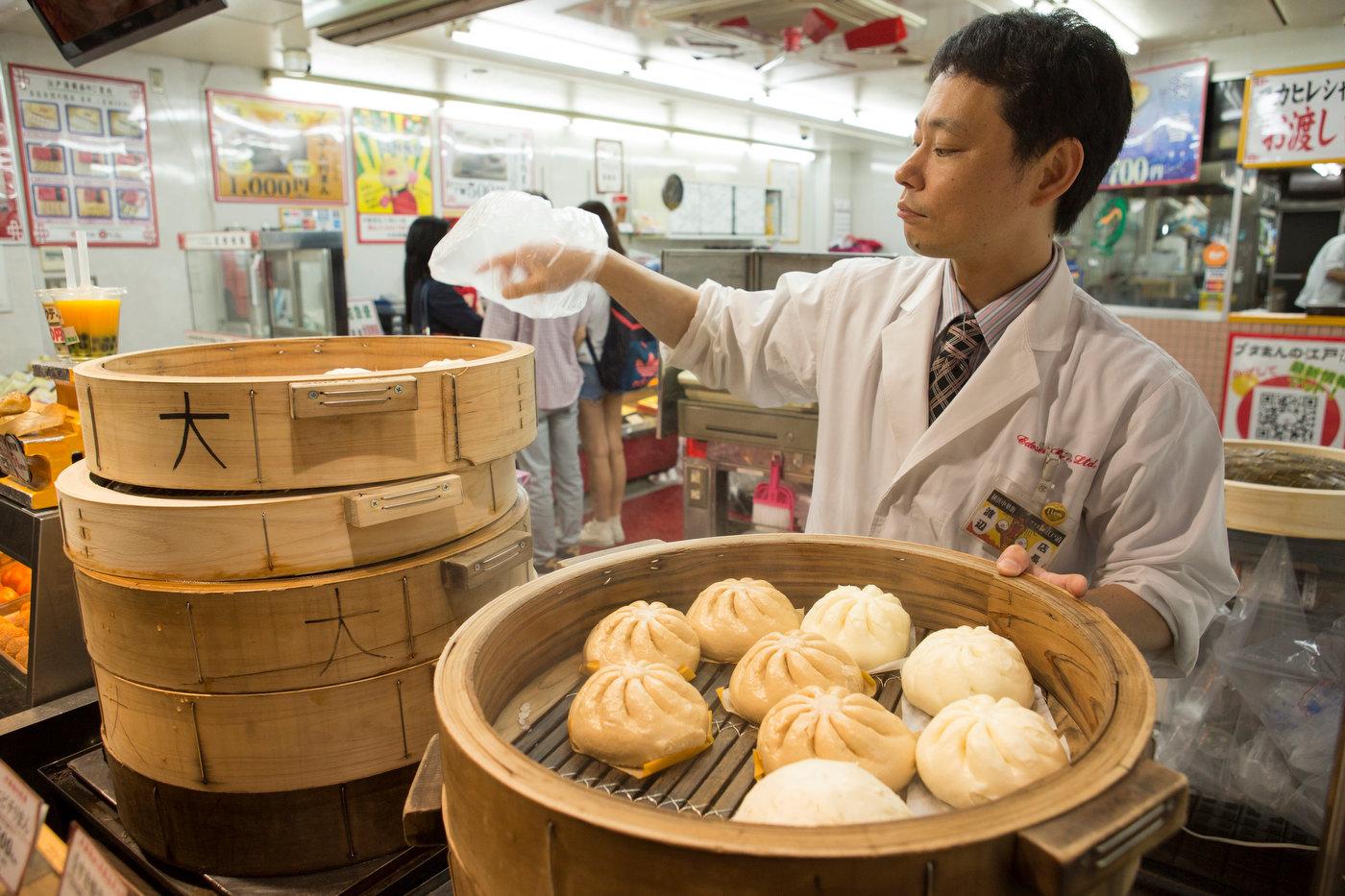 Steamed buns, Yokohama's Chinatown.