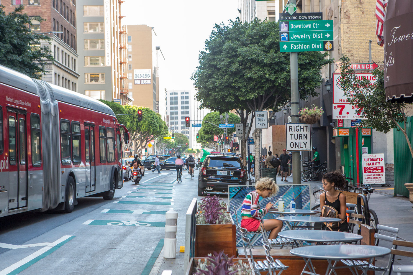 Parklet, Spring Street, downtown Los Angeles (for The Good Life).