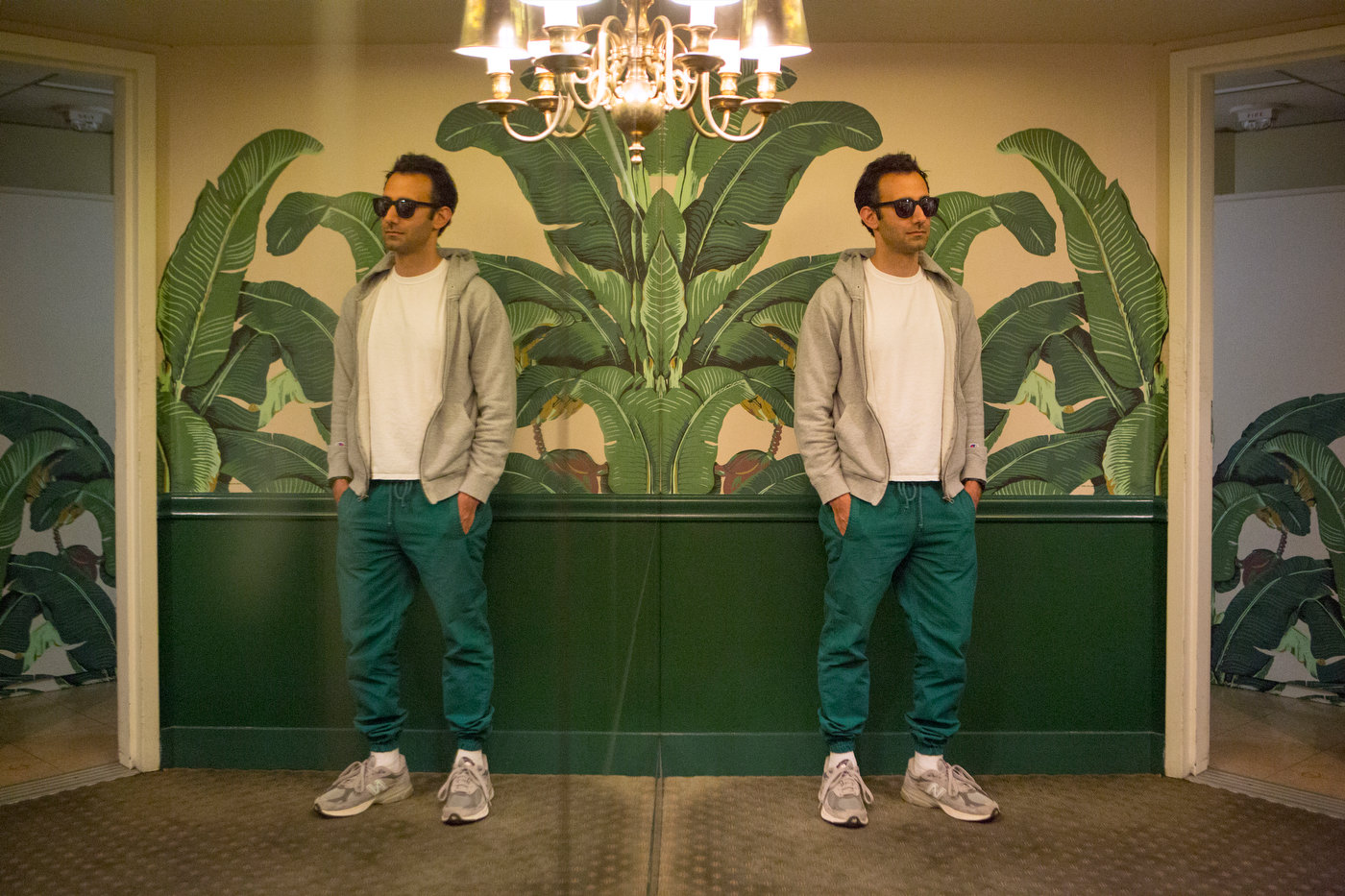 Artist Alex Israel, Beverly Hills Hotel, Los Angeles (for The Good Life).