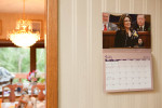 A calendar in Todd Palin's parents house in Dillingham.