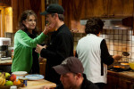 Sarah Palin and husband Todd after a night of salmon fishing, Dillingham.