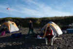 Sarah Palin and daughter Piper camp near Nome.