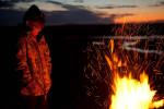 Sarah Palin near Kavik, north of the Arctic Circle, during a caribou hunting trip.