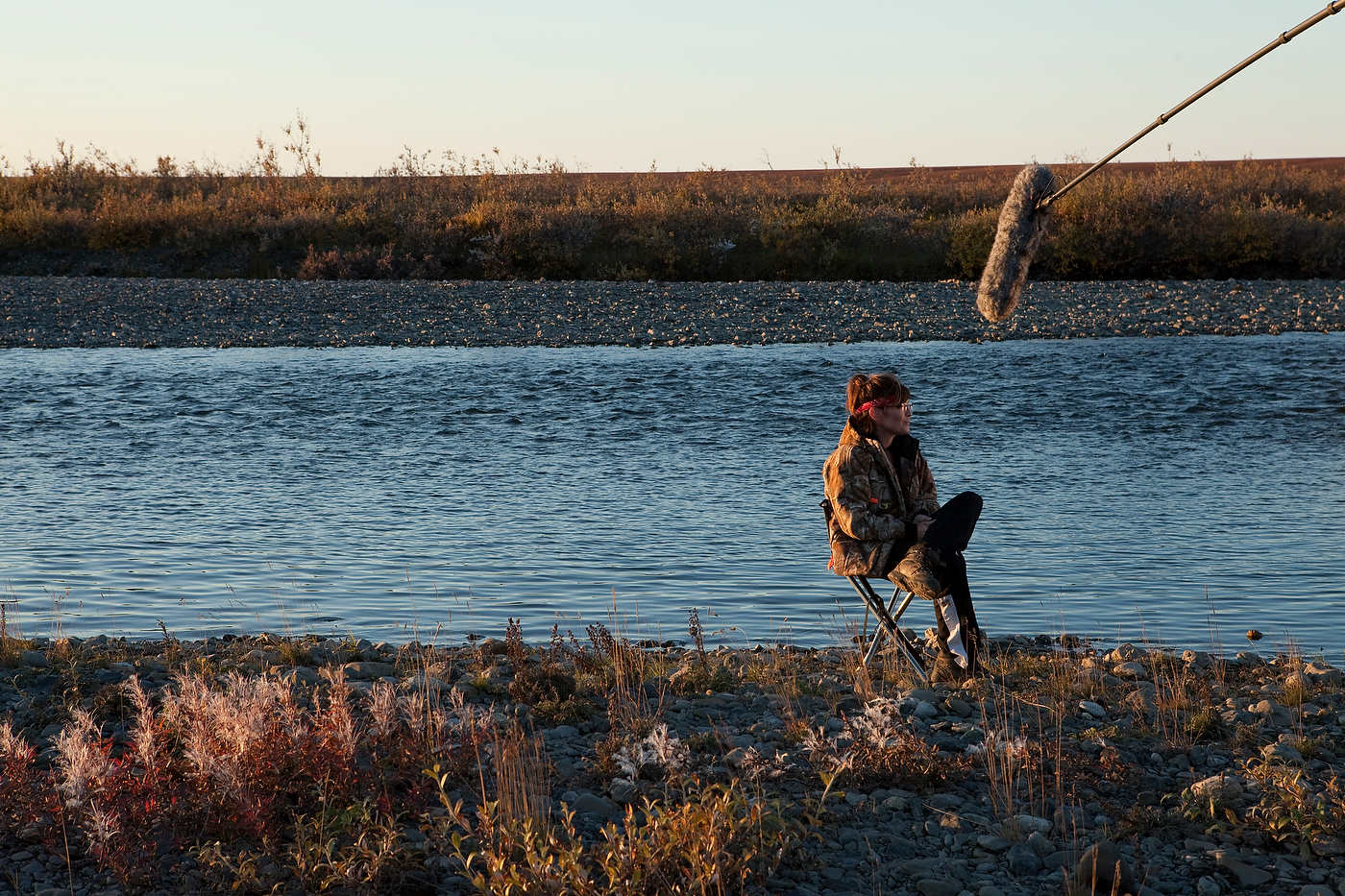 Palin interviewed near Kavik, north of the Arctic Circle.