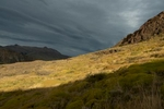 Last light of the day above El Chalten, Argentina.