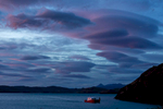 Early morning ferry, Torres del Paine, Chile.