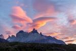 Sunrise, Torres del Paine, Chile.