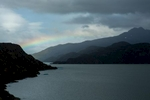 Rainbow near Grey Glacier, Torres del Paine, Chile.